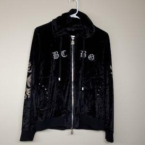 BCBG MaxAzria Black Full Zip Hoodie